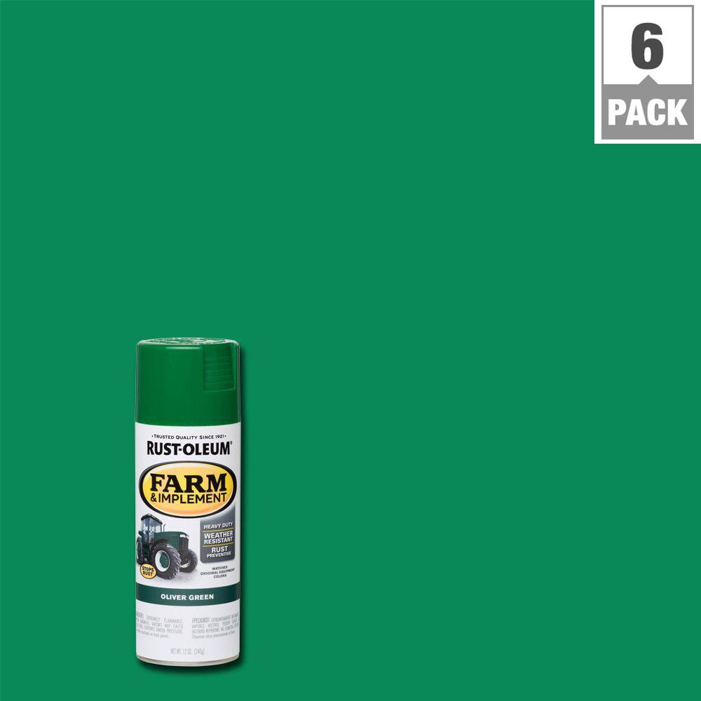 Rust Oleum 12 Oz Farm And Implement Oliver Green Spray