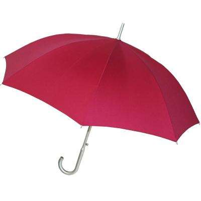48 in. Arc Auto Stick Umbrella in Fuchsia