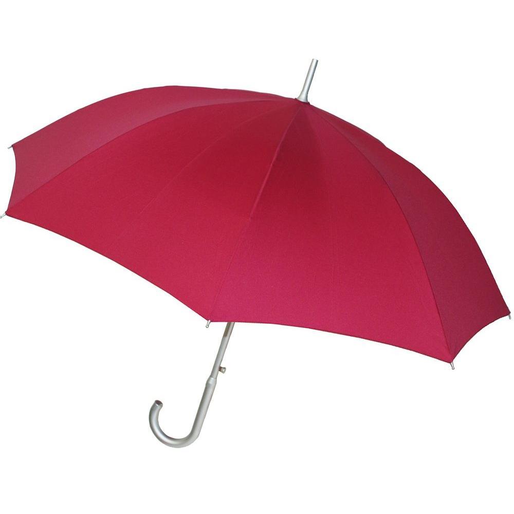 48 in. Arc Auto Stick Umbrella in Fuchsia