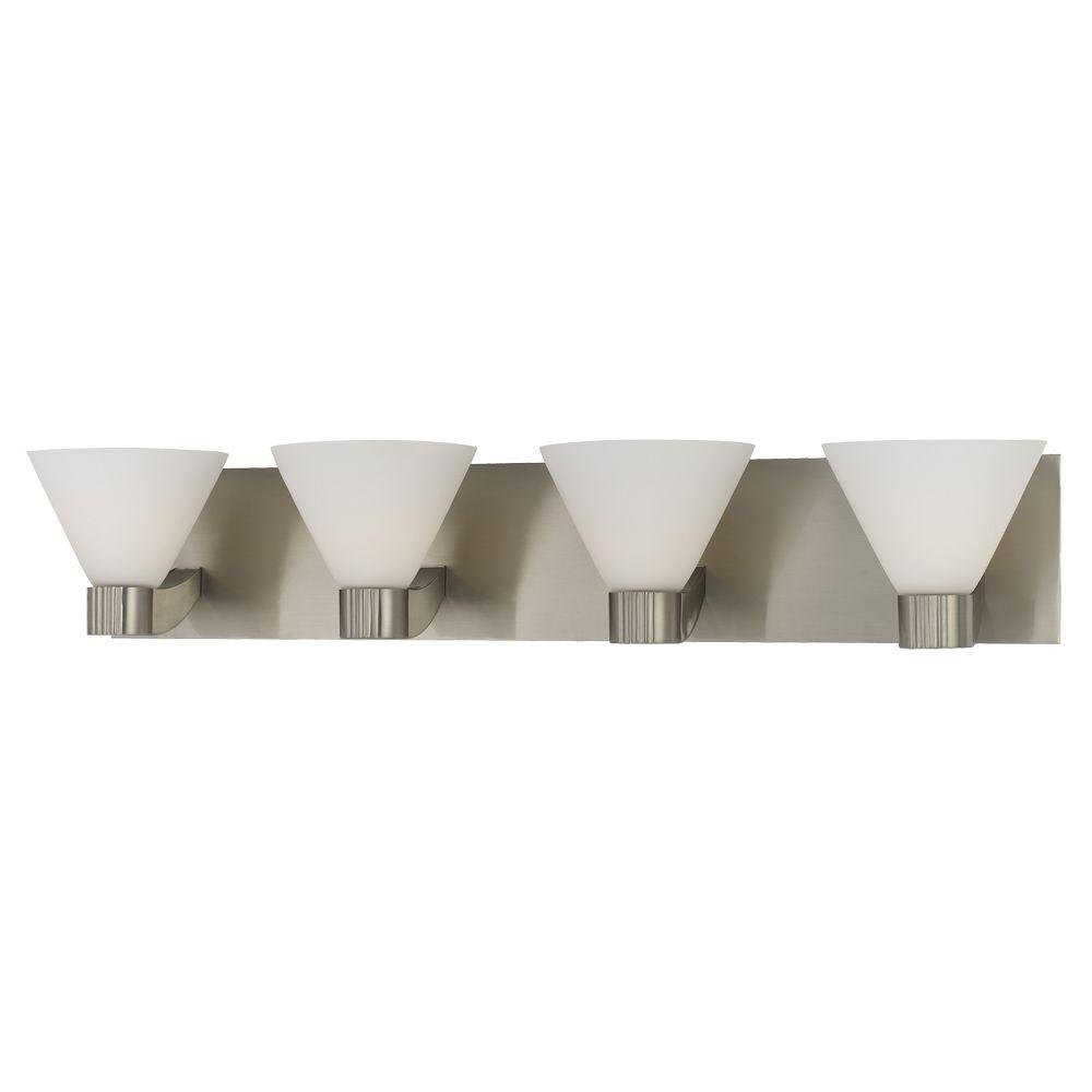 Eurofase Martini Collection 4-Light Satin Nickel Wall Bath Bar