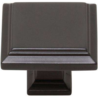Sutton Place 1-1/4 in. Modern Bronze Square Cabinet Knob