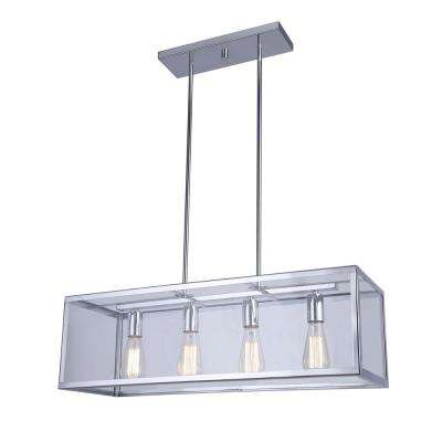 Langley 4-Light Chrome Chandelier with Clear Glass Shades