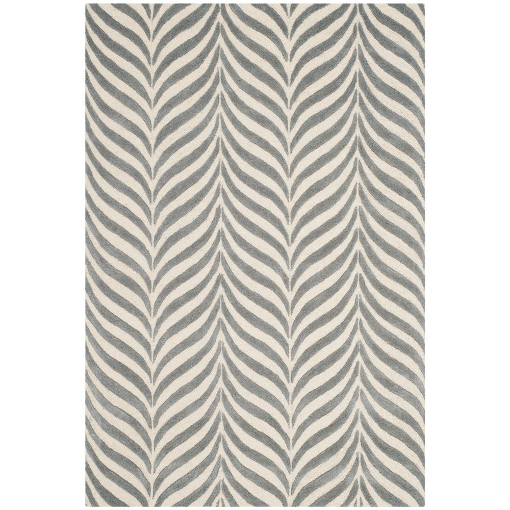 Bella Ivory/Gray 8 ft. x 10 ft. Area Rug
