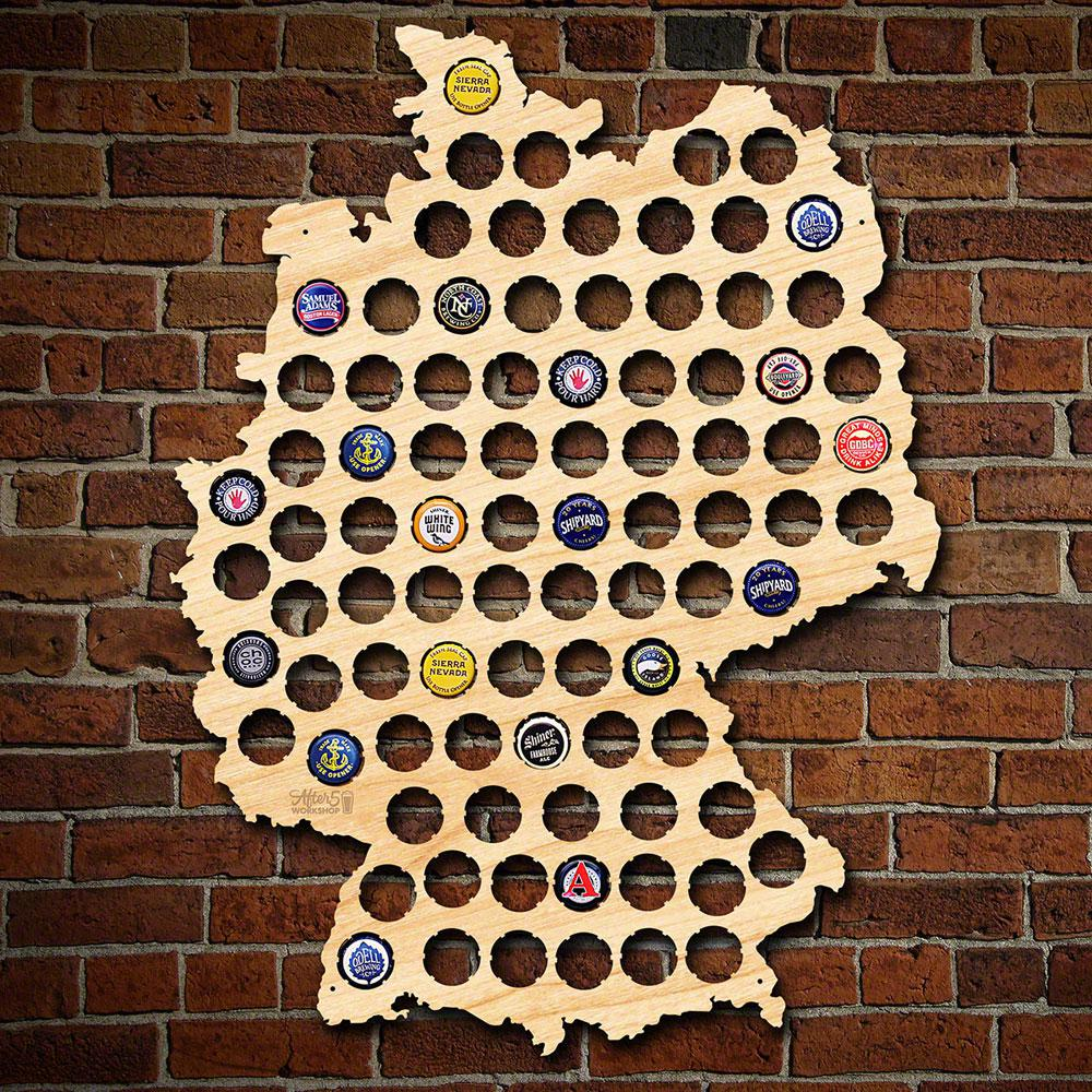 After Workshop In X In Large Germany Beer Cap Map - Oregon beer cap map