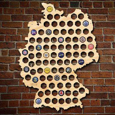 21 in. x 16 in. Large Germany Beer Cap Map