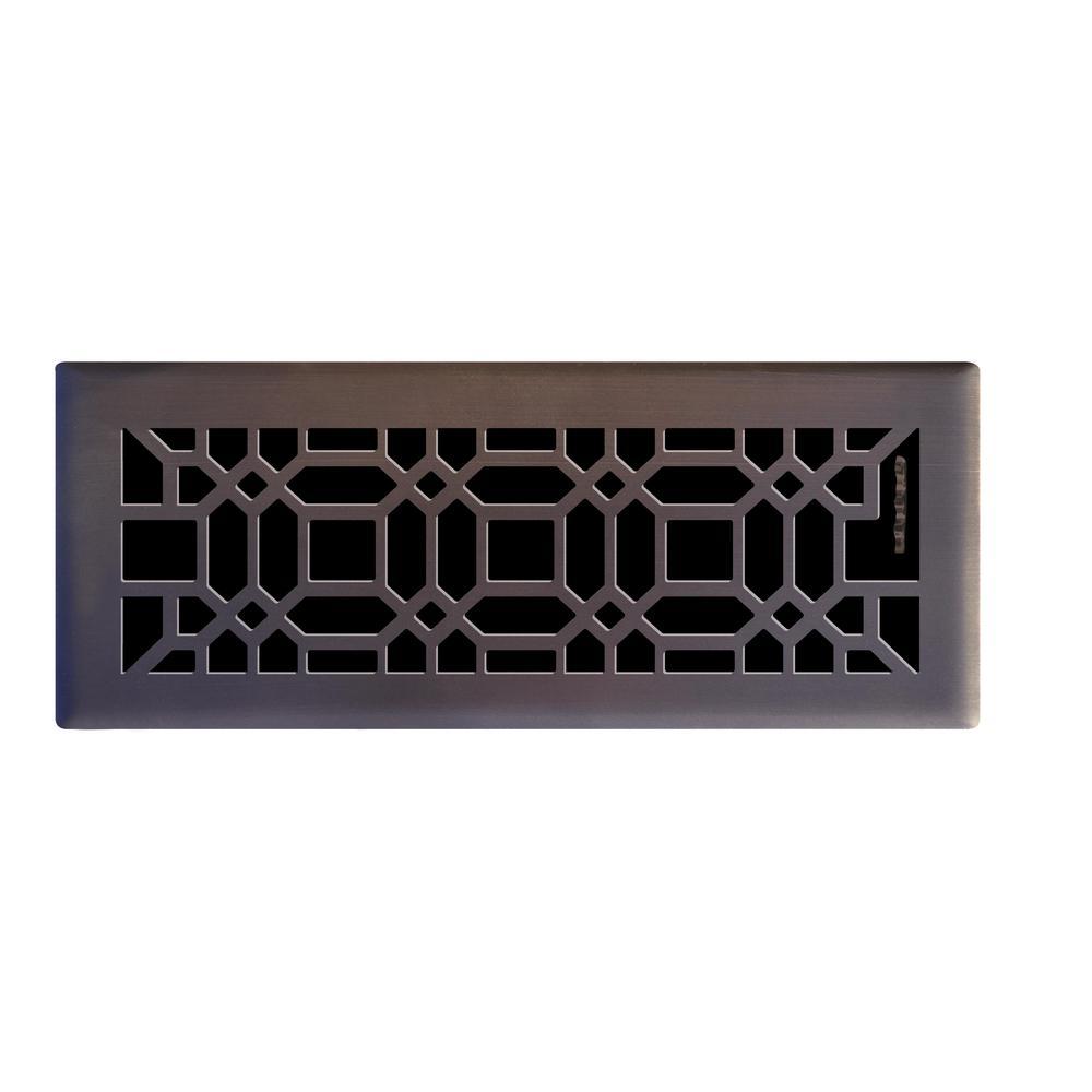 4 In X 12 Oriental Floor Registerin Oil Rubbed Bronze