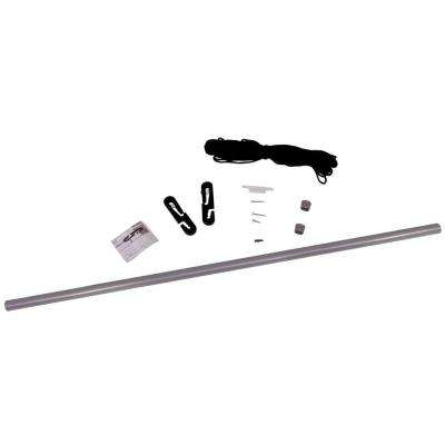 Pull-Eaze Roll-Up Door Kit with Marine-Grade Nylon Rope, Double-Zippered Doors, and One-Pull Access