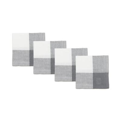 Bohemia 20 in. W x 20 in. H White/Grey Poly and Cotton Napkins (Set of 4)