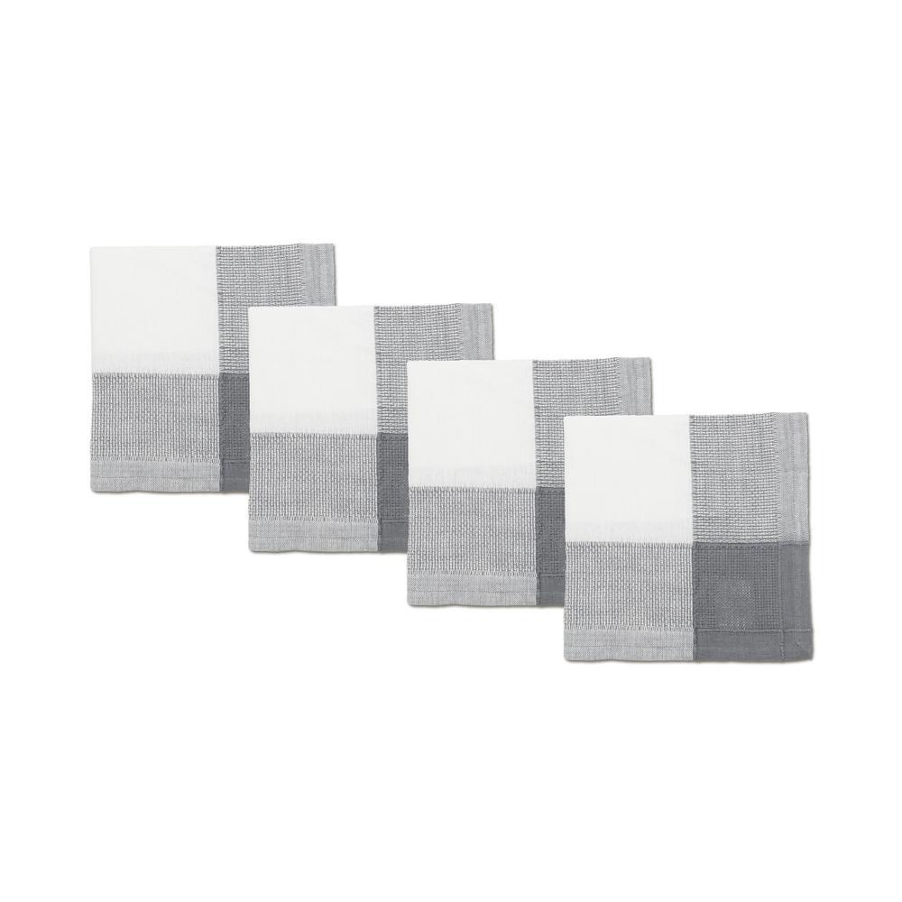 Lintex Bohemia 20 in. W x 20 in. H White/Grey Poly