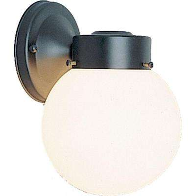 1-Light Black Outdoor Wall Mount