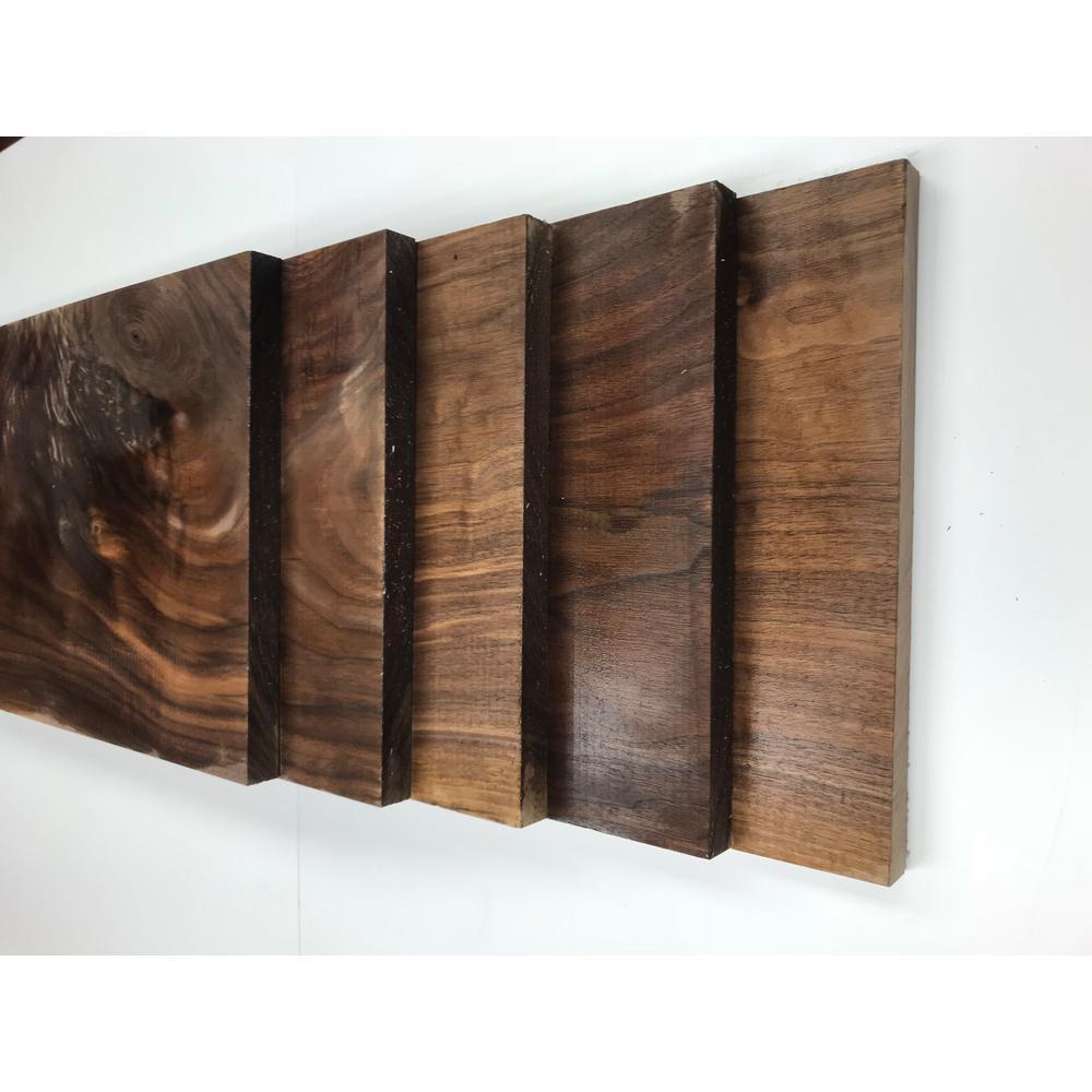 0.75 in. x 11.25 in. x 2 ft. Walnut S4S Board (5-Pack)