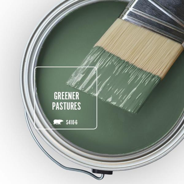 Reviews For Behr Premium Plus 5 Gal S410 6 Greener Pastures Flat Low Odor Interior Paint And Primer In One 130005 The Home Depot