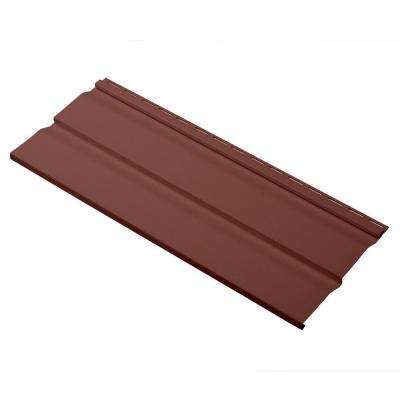 Dimensions Double 4.5 in. x 24 in. Dutch Lap Vinyl Siding Sample in Russet Red