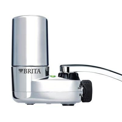Faucet Mount Water Filtration System in Chrome, BPA Free