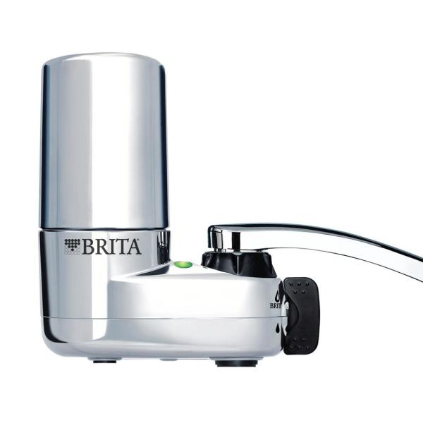 Faucet Mount Tap Water Filtration System in Chrome, BPA Free, Reduces Lead