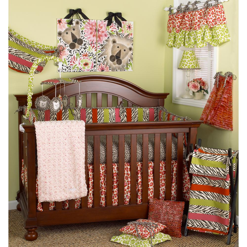 Cotton Tale Designs Here Kitty Animal Prints 4 Piece Crib Bedding Set