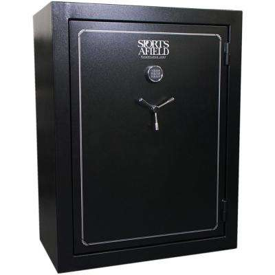 Standard Series 72-Gun Fire Rated, E-Lock Gun Safe, Black Textured
