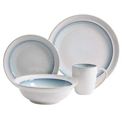 Lawson 16-Piece Teal Dinnerware Set