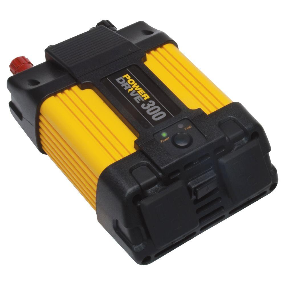 Power Drive 300-Watt Power Inverter, Yellow/Black
