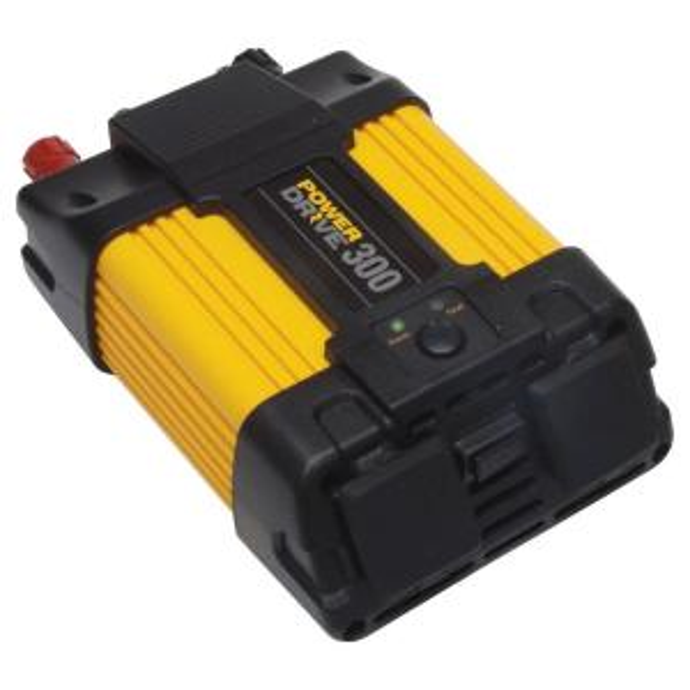 PowerDrive 300-Watt Power Inverter, Yellow/Black by PowerDrive
