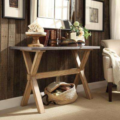Upton Weathered Light Oak Console Table