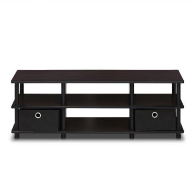 Econ 48 in. Espresso Particle Board TV Console with 2 Drawer Fits TVs Up to 43 in. with Open Storage