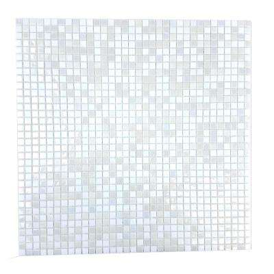 Constellation White 11.7 in. x 11.7 in. x 3.20 mm Glass Mosaic Tile