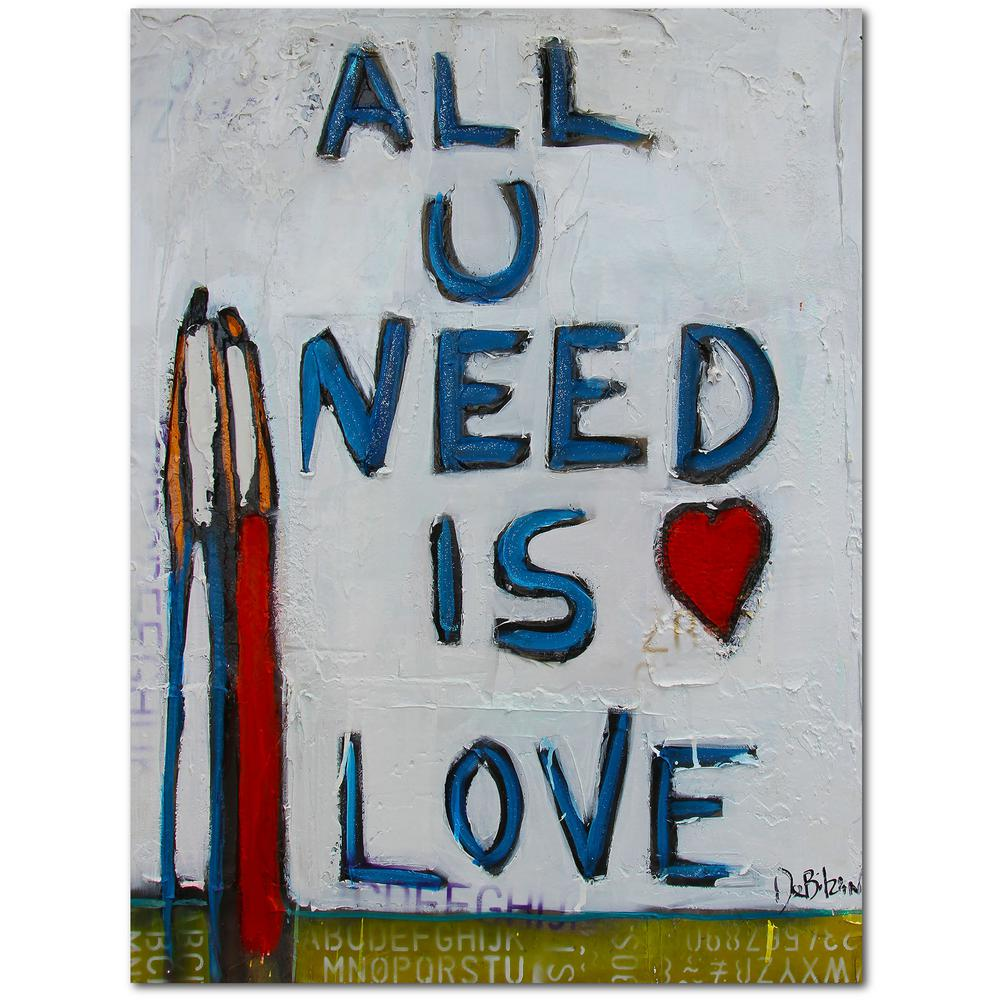Courtside Market William Debilzan All You Need Is Love 30 In X 40 In Gallery Wrapped Canvas Wall Art Web Wdb130 30x40 The Home Depot