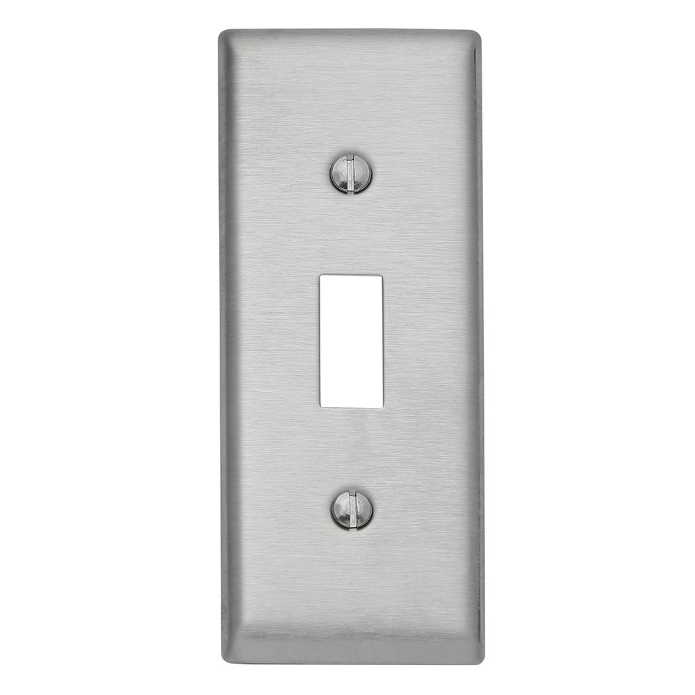 302 Series 1-Gang Narrow Toggle Wall Plate, Stainless Steel
