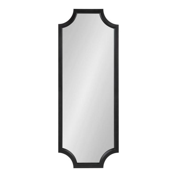 Large Rectangle Black Contemporary Mirror (47.75 in. H x 17.75 in. W)