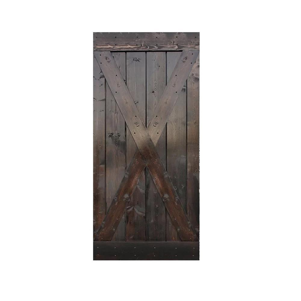 36 in. x 84 in. Knotty Pine Solid Wood Interior Barn Door Slab