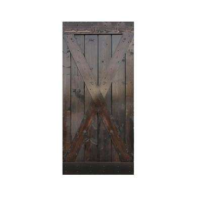 36 in. x 84 in. Knotty Pine Solid Wood Interior Barn Door Slab