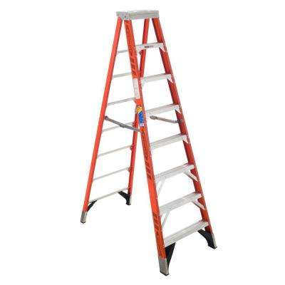 8 ft. Fiberglass Step Ladder with 375 lbs. Load Capacity Type IAA Duty Rating