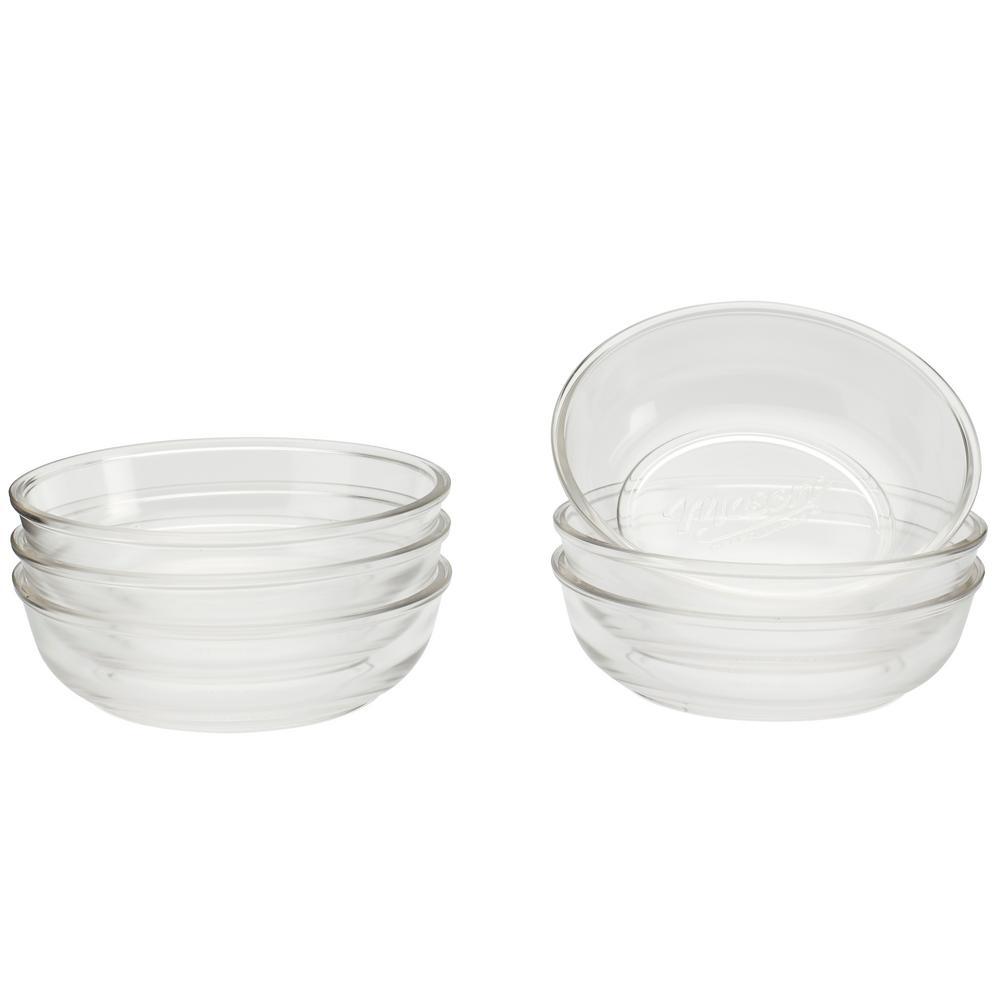 8 in. Glass Dinner Bowl (Set of 6)