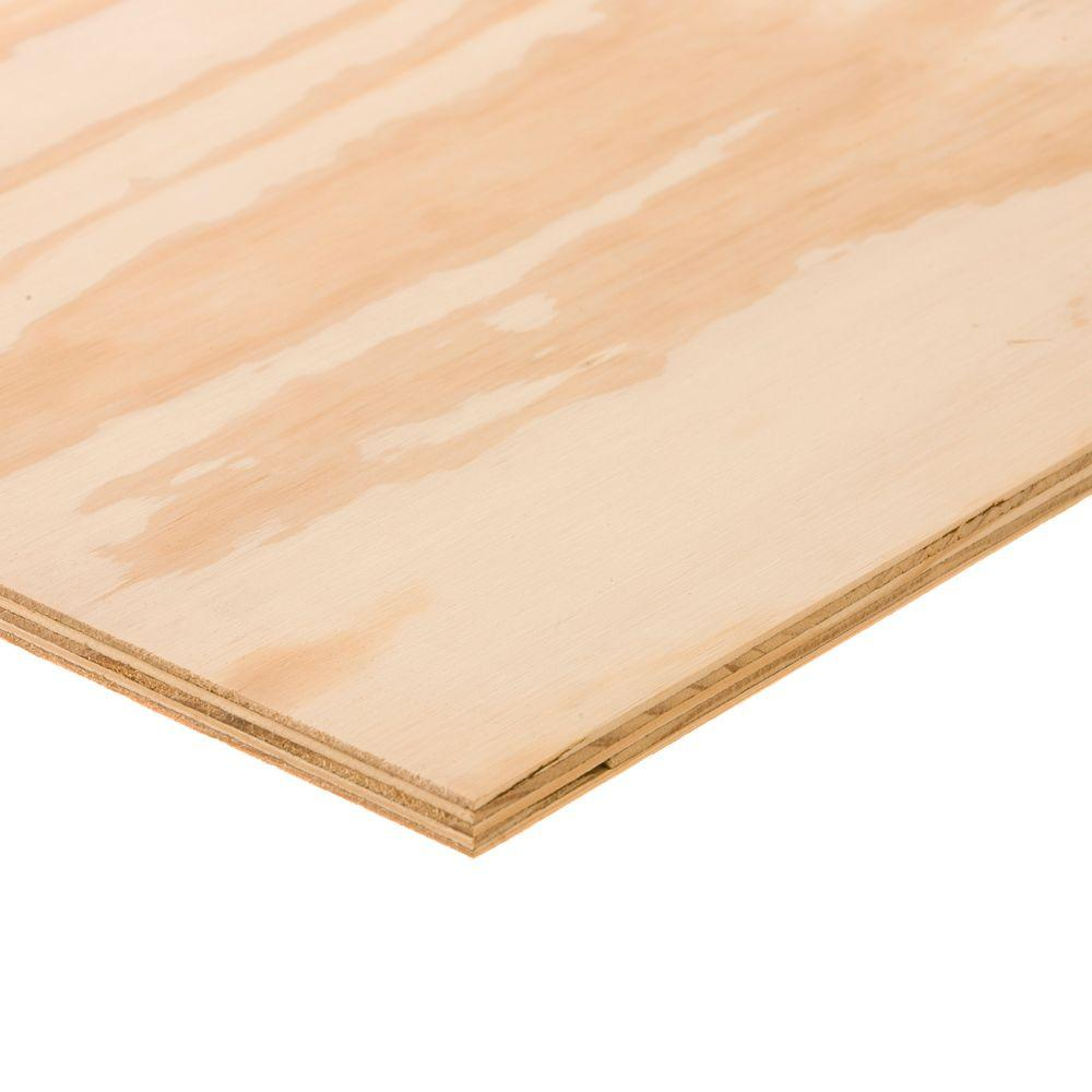 Sanded Plywood Common 23 32 In X 2 Ft X 2 Ft Actual