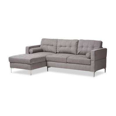 Mireille Light Gray Fabric Sectional