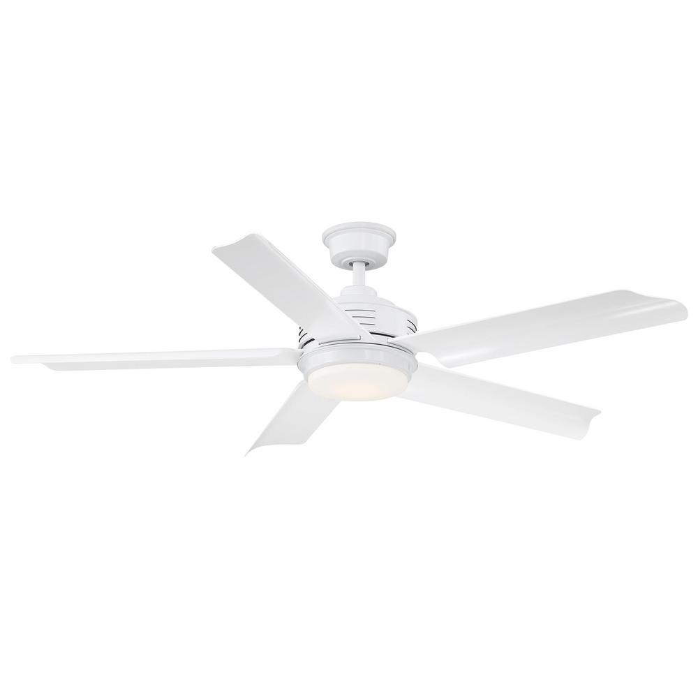 Home Decorators Collection Hansfield 56 in. LED Outdoor White Ceiling Fan with Remote Control