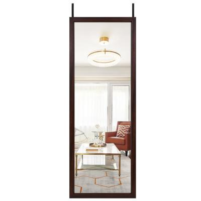 18 in. x 51 in. Modern Style Rectangle Mirror Simple Framed Brown Door Mirror Full Length Wall Mirror