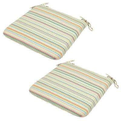 Rigby Stripe Outdoor Seat Cushion (2-Pack)