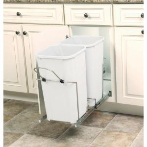 Knape and Vogt 11 inch x 22 inch x 18.75 inch 27 Qt. In-Cabinet Double Soft-Close... by Knape and Vogt