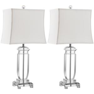 Safavieh Olympia 24 inch Clear Crystal Table Lamp (Set of 2) by Safavieh