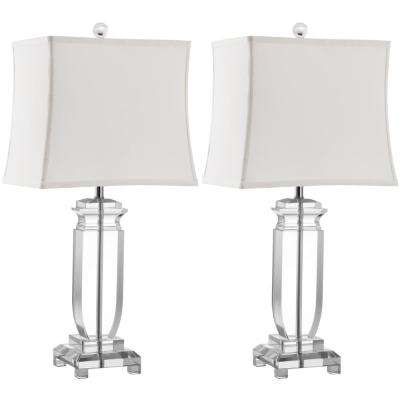 Olympia 24 in. Clear Crystal Table Lamp (Set of 2)