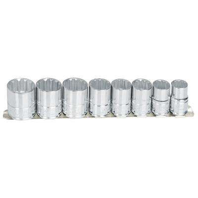 1/2 in. Drive 12-Point Impact Socket Set (8-Piece)