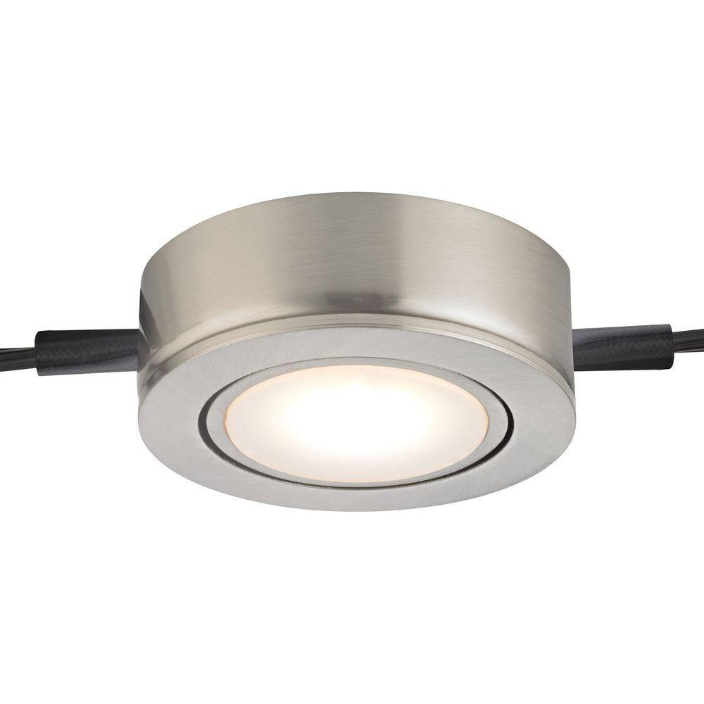 Titan Lighting Tuxedo Swivel 1-Light LED Satin Nickel Under Cabinet ...