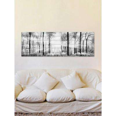 "20 in. H x 60 in. W ""White Light Forest"" by Parvez Taj Printed White Wood Wall Art"