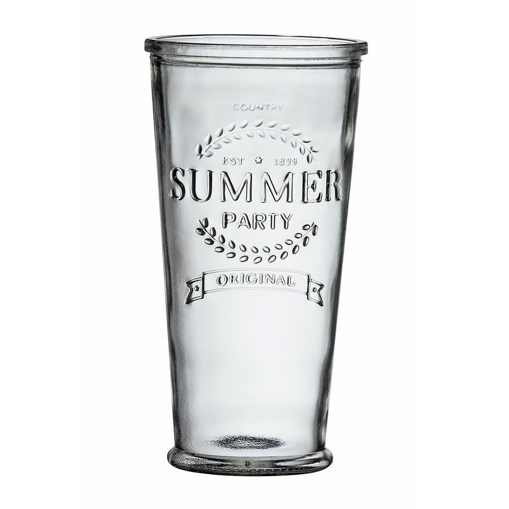 Summer Party 24 oz. 6-Piece Clear Glass XL Hiball Drinkware Set