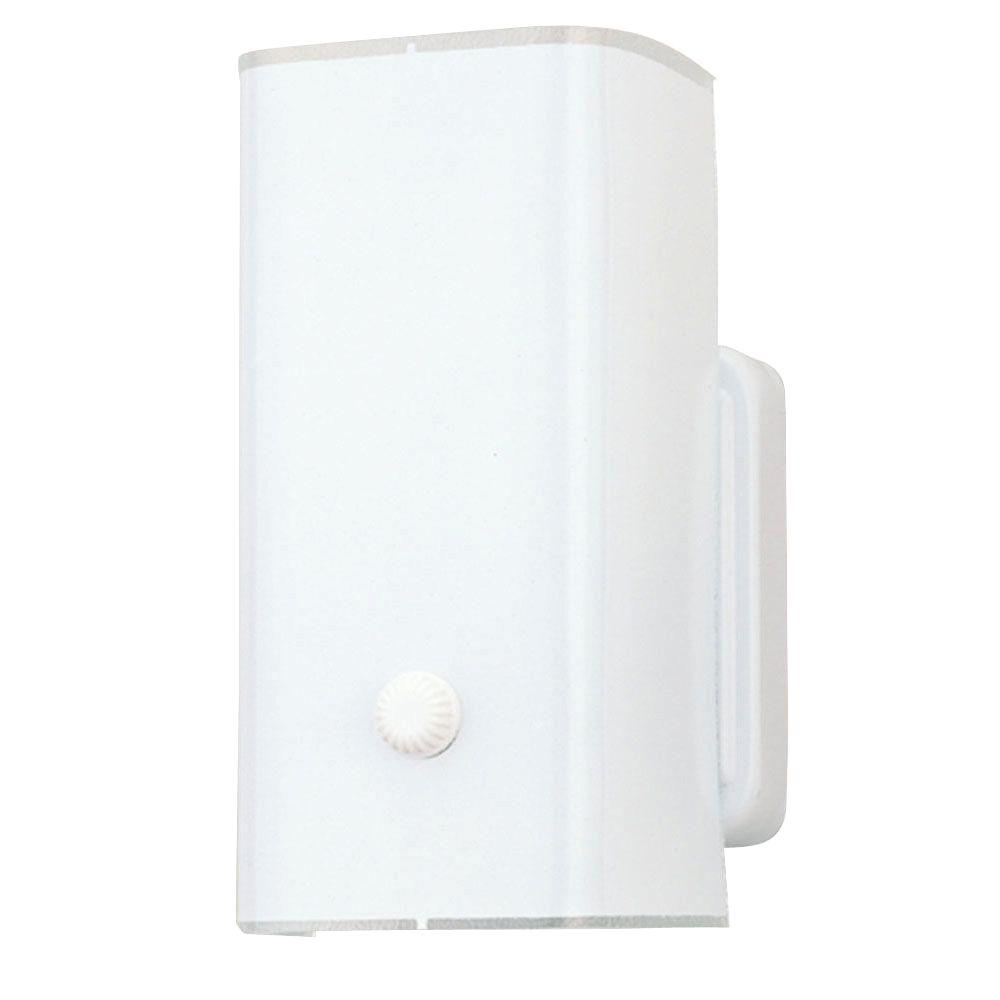 Westinghouse 1-Light White Base Interior Wall Fixture with White Ceramic Glass