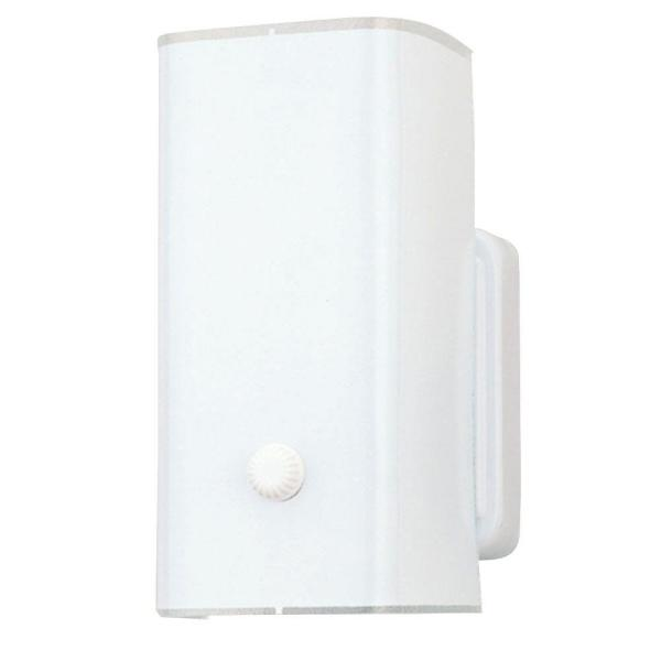 1-Light White Base Interior Wall Fixture with White Ceramic Glass