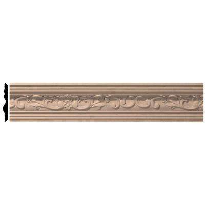 4-7/8 in. x 96 in. x 4-3/4 in. Unfinished Wood Maple Medway Carved Crown Moulding