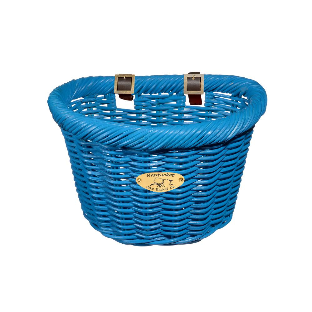 Cruiser Adult D-Shape Basket in Bright Blue